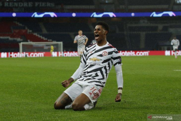 Liga Champions, Gol Marcus Rashford jelang menit akhir antar MU pecundangi PSG 2-1
