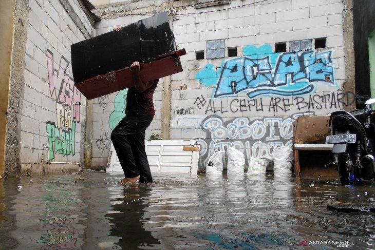 Floods swamp residential areas in Bekasi