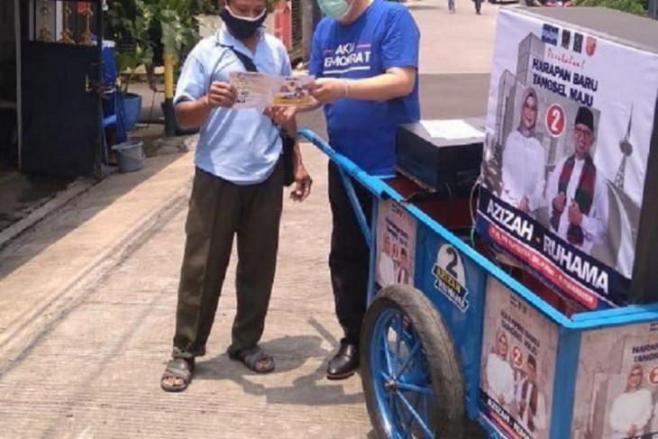 Timses Azizah-Ruhama kampanye keliling pemukiman gunakan gerobak musik