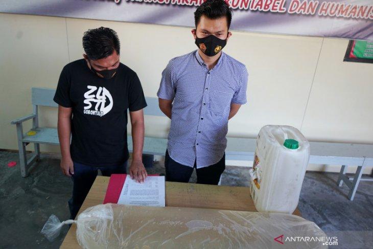 Polres Gorontalo Kota sita 1.800 liter captikus