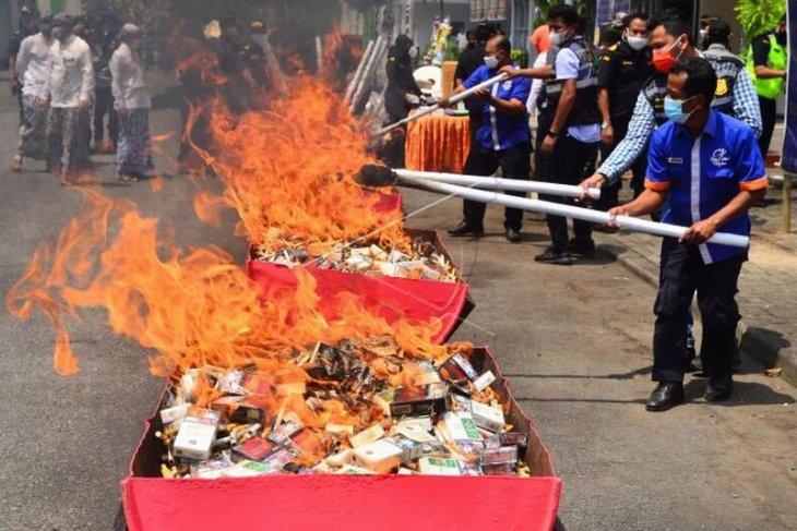 Pemusnahan barang milik negara hasil penindakan