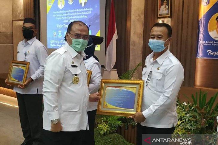 Pemkab Bangka Terima Penghargaan Menteri Keuangan Atas Capaian Opini WTP