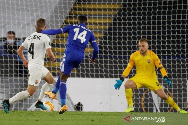 Leicester tandai debut di Liga Europa dengan kemenangan telak