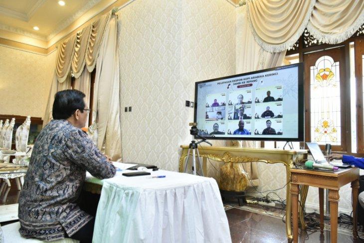 Pjs Gubernur Jambi lepas 2,1 ton kopi arabika Kerinci ke Jepang