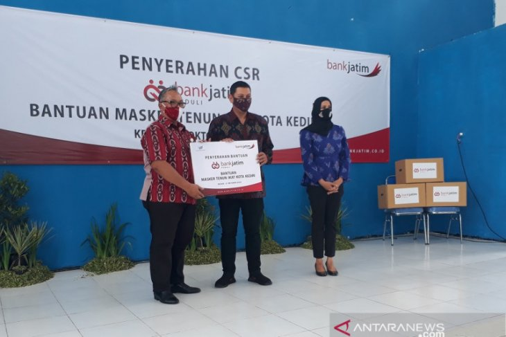 Pemkot Kediri dapat bantuan 10.000 masker dari Bank Jatim