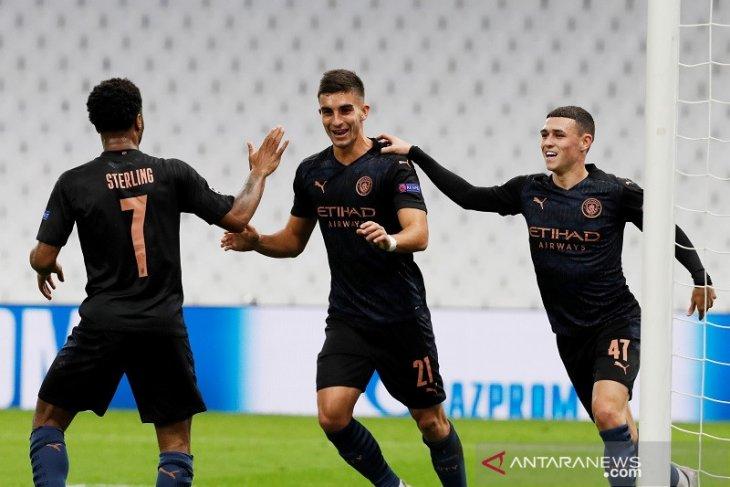 Manchester City cukur Marseille tiga gol