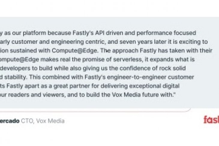 Fastly ignites developer innovation on Compute@Edge with extensive tooling, scalability, and performance