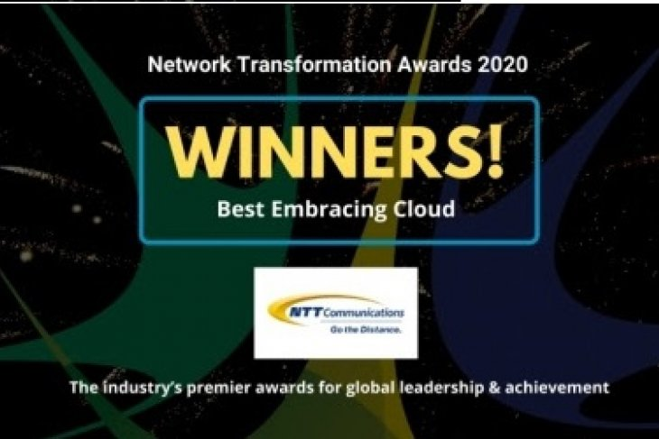 "NTT Com receives ""Operator Award: Embracing Cloud"" at Network Transformation Awards during Layer123 World Congress 2020"