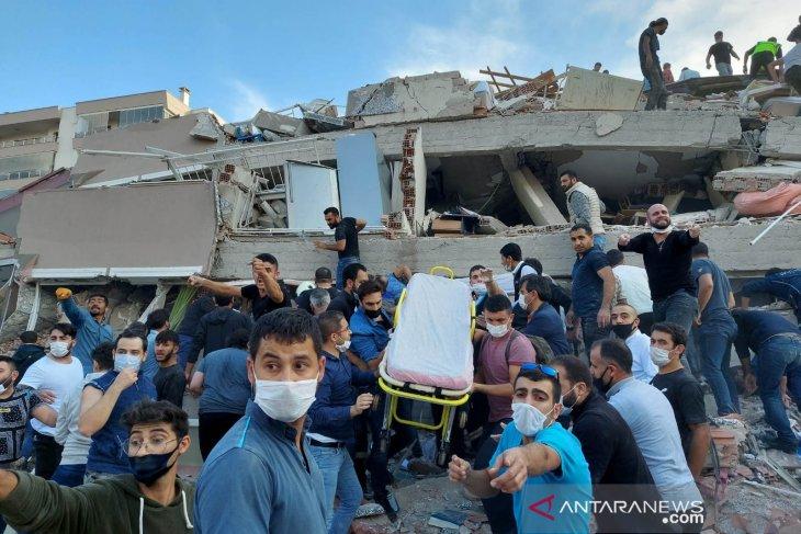 Korban tewas gempa Turki dan Yunani sebanyak 19 orang