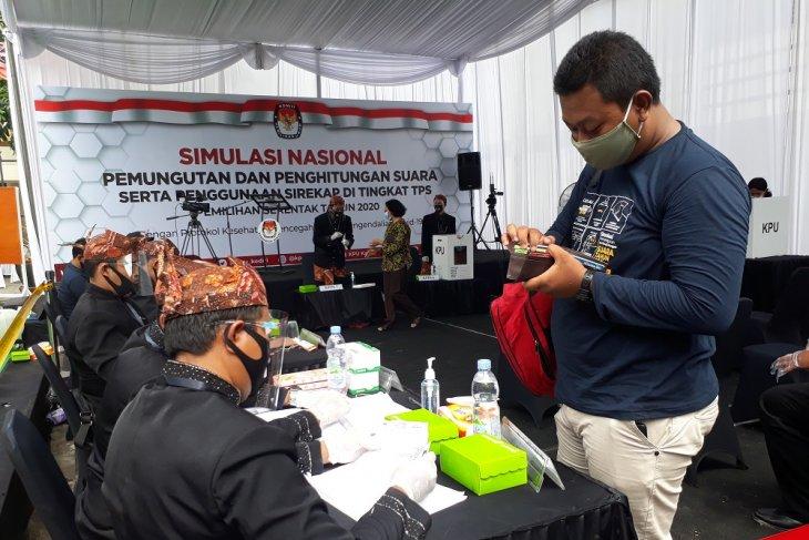 Gelar simulasi pemungutan suara, KPU Kediri matangkan persiapan Pilkada 2020