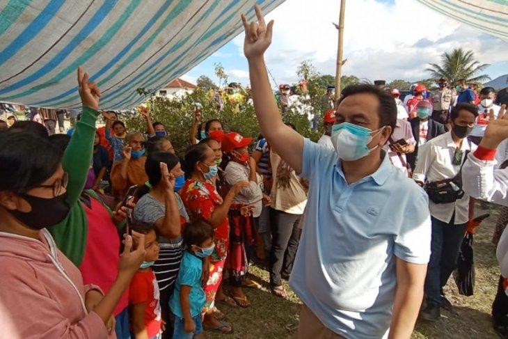 Bersama Effendi MS Simbolon, Rapidin Serap Aspirasi di Tiga Desa