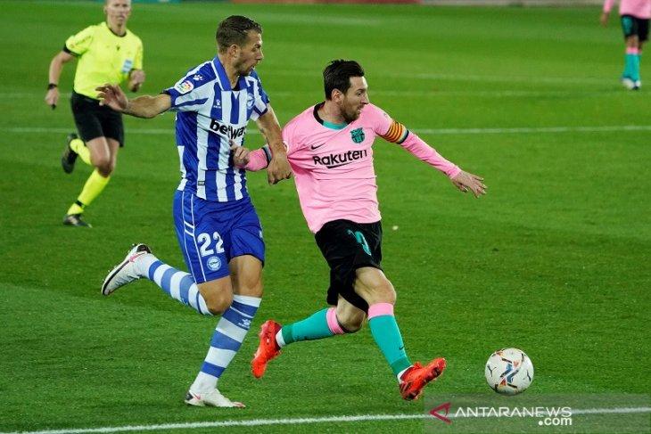 Hasil Liga Spanyol, Barcelona ditahan imbang 10 pemain Alaves