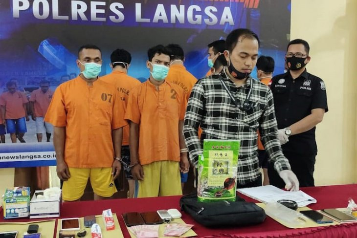 Tiga pengedar narkoba antarprovinsi ditangkap di Langsa
