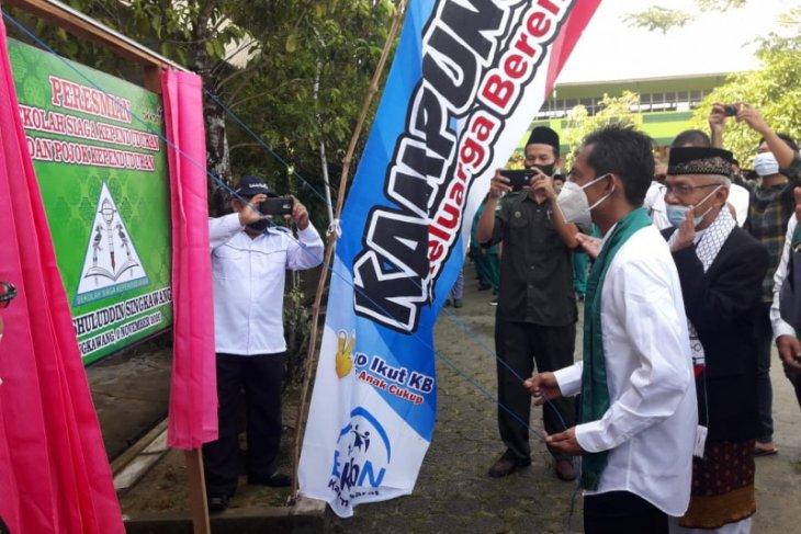 Sekolah Siaga Kependudukan di Pondok Pesantren Ushuluddin Singkawang diresmikan