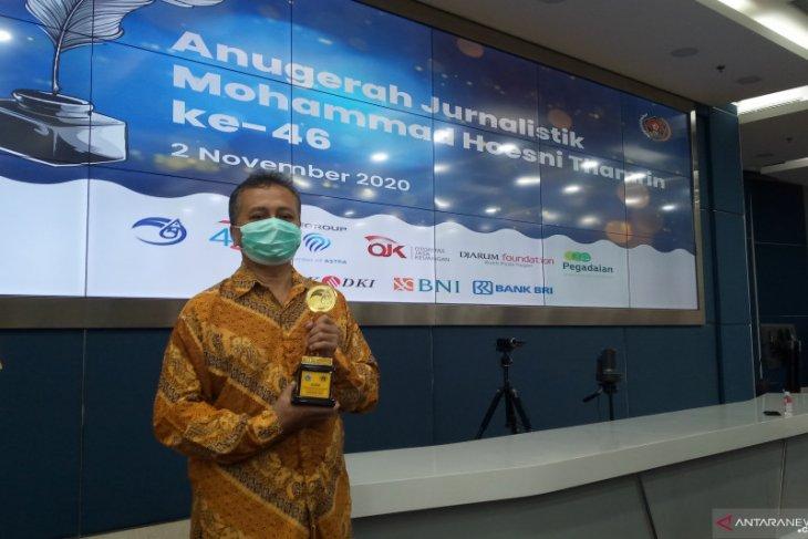 Pewarta Antara raih penghargaan jurnalistik MH Thamrin 2020