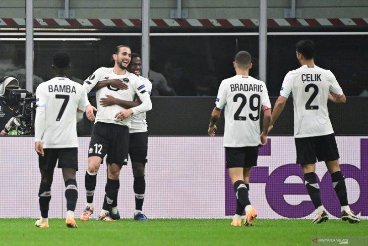 Liga Europa: Lille pecundangi AC Milan 3-0