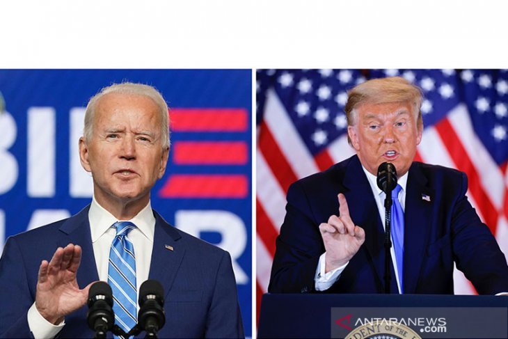 Kemenangan Biden di Pilpres AS semakin dekat, Trump bersumpah melawan