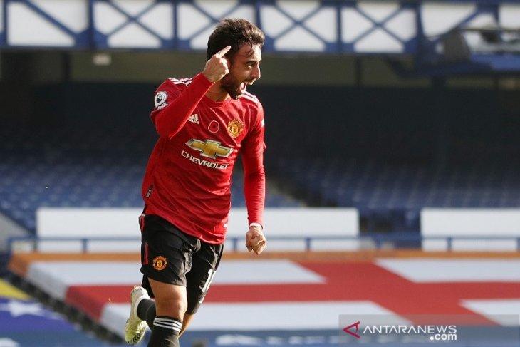 Liga Inggris: Manchester United vs Everton 3-1, Bruno Fernandes tak mau dipuji sendirian