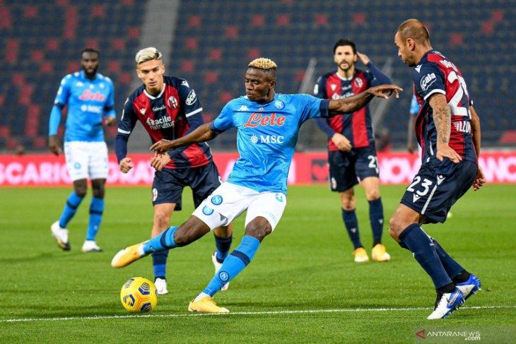 Gol semata wayang Osimhen membawa Napoli menang 1-0 atas Bologna