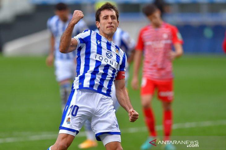Liga Spanyol, Sociedad amankan kembali puncak klasemen dengan bungkam Granada