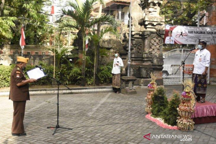 Apel Peringatan Hari Pahlawan Nasional di Denpasar kedepankan protokol kesehatan