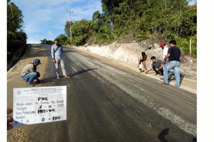 39,56 persen ruas jalan di Kabupaten Kapuas Hulu rusak