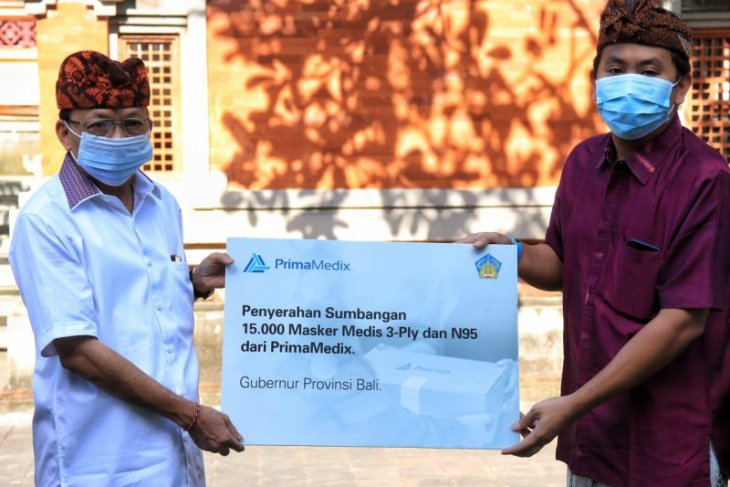 Gubernur Bali terima bantuan 15 ribu masker dari Prima Medix