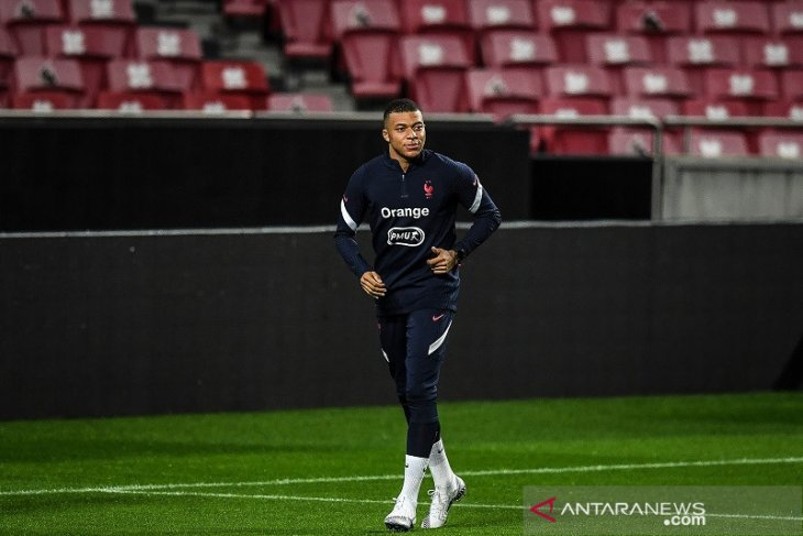 Prancis tanpa Kylian Mbappe ketika menghadapi tuan rumah Portugal