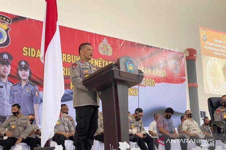 Kapolda Maluku  penetapan kelulusan calon siswa Polri terbuka