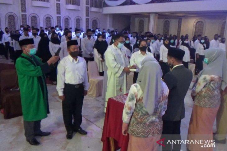 1.199 pengawas TPS di Pilkada Banjarmasin dilantik
