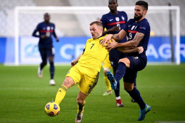 Nations League: Swedia terdegradasi setelah dibekuk Prancis 2-4