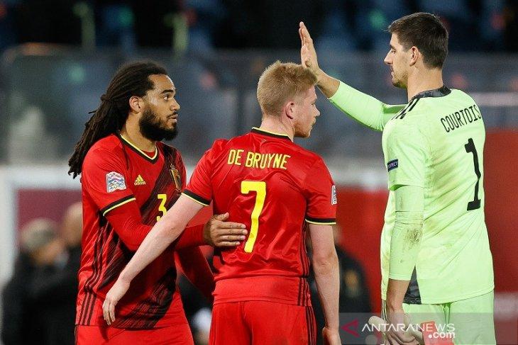 Courtois tegaskan Belgia tidak meremehkan Denmark