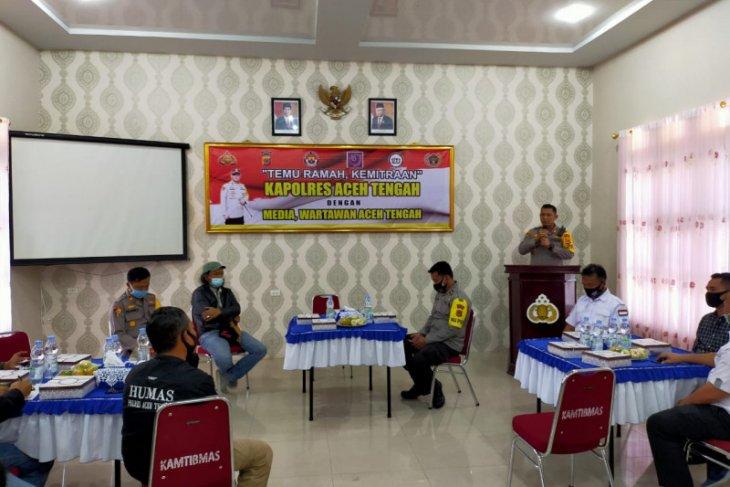 Polres Aceh Tengah perkuat kemitraan dengan wartawan