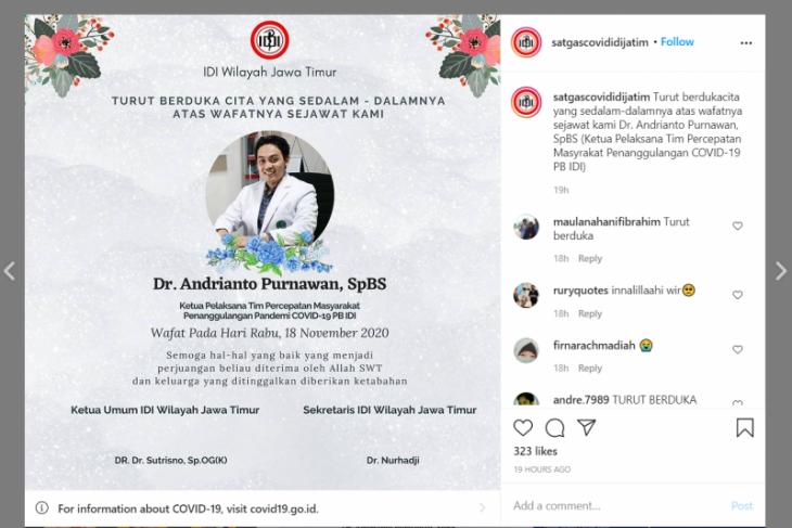 Andrianto Purnawan, dokter bedah saraf yang gugur karena COVID-19