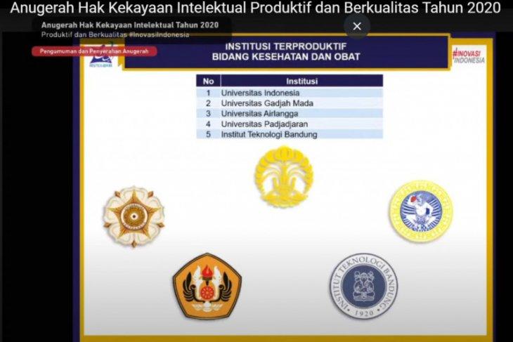 UI terima penghargaan dari Menristek sebagai institusi terproduktif di Indonesia