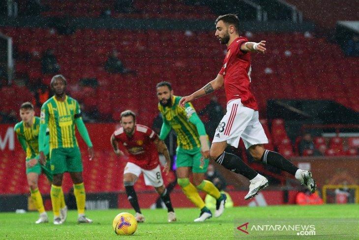 Liga Inggris - Bruno Fernandes amankan kemenangan kandang perdana MU