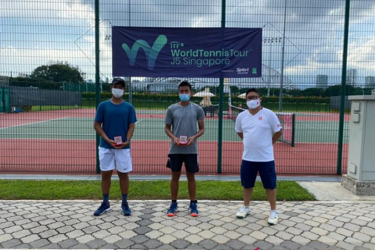 Petenis Indonesia Nathan Antony raih dua gelar juara di Singapura