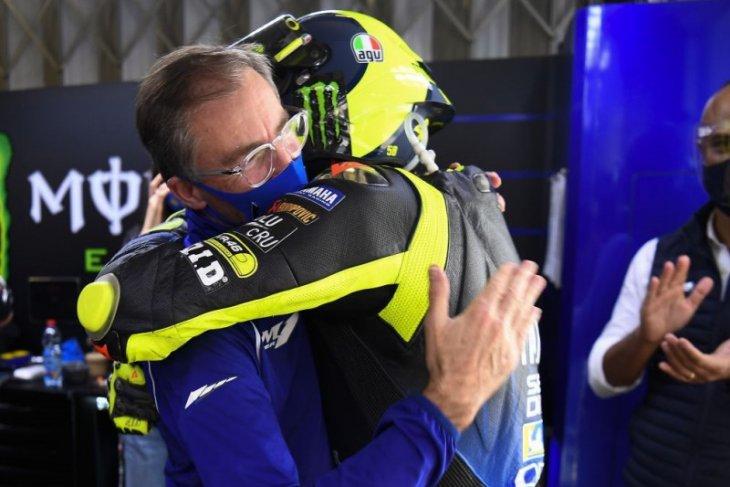 Valentino Rossi jalani perpisahan emosional dengan tim pabrikan Yamaha