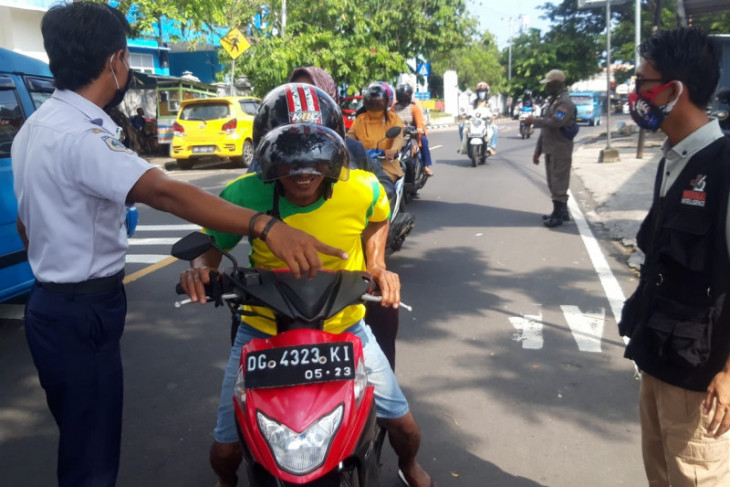 Satgas  Enam orang terjaring razia masker di Ternate
