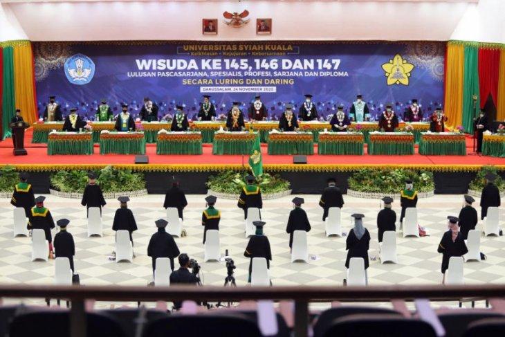 Gelar wisuda pertama, Unsyiah hadirkan 27 lulusan secara luring