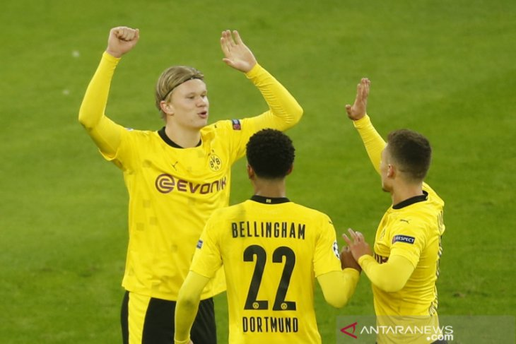 Dua gol Haaland bawa Dortmund pukul Brugge 3-0