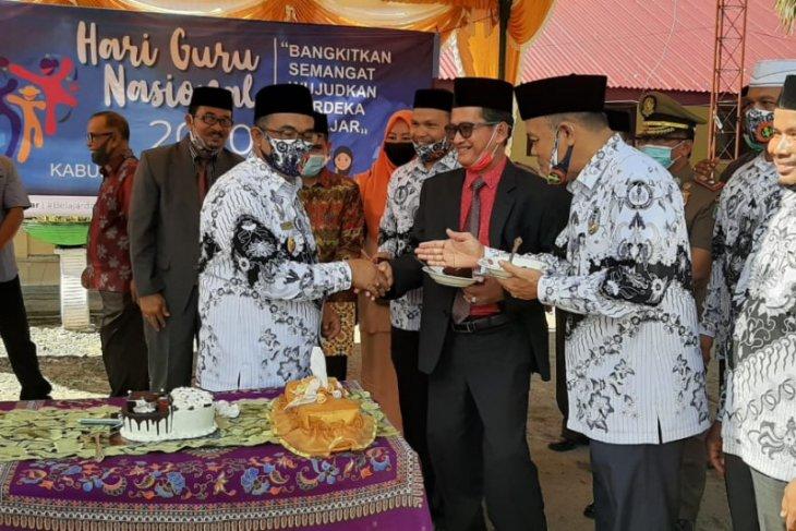 Peringati Hari Guru Nasional, Bupati Aceh Jaya minta guru tetap berinovasi meskipun pandemi