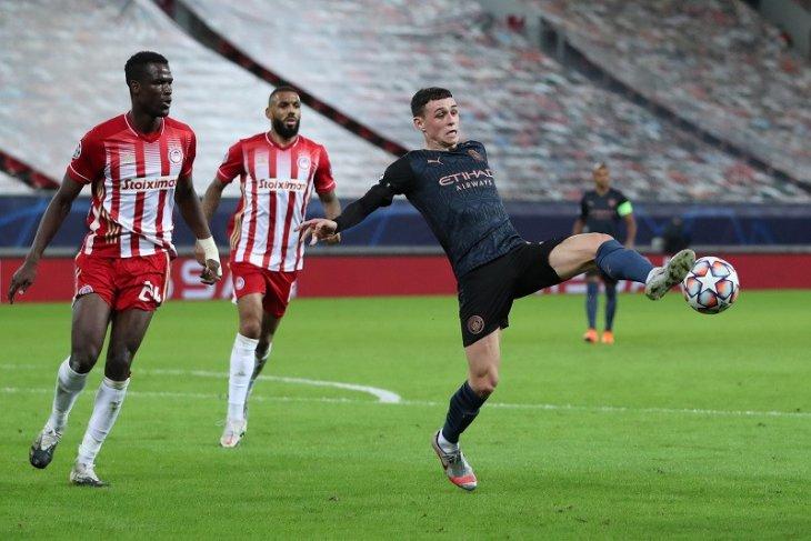 Liga Champions - Manchester City kunci tiket 16 besar setelah kalahkan Olympiakos