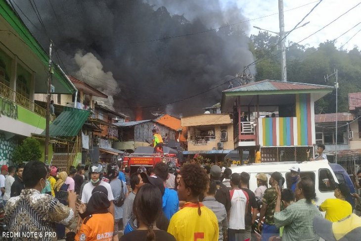 500 orang kehilangan tempat tinggal akibat kebakaran di APO Kali Papua