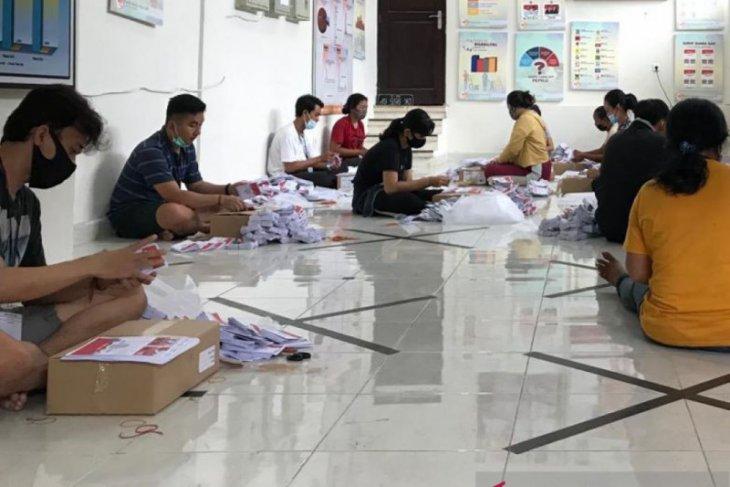Pelipatan surat suara di KPU Denpasar ikuti protokol kesehatan