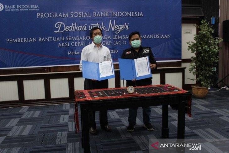 ACT Sumut terima bantuan 600 paket sembako dari BI