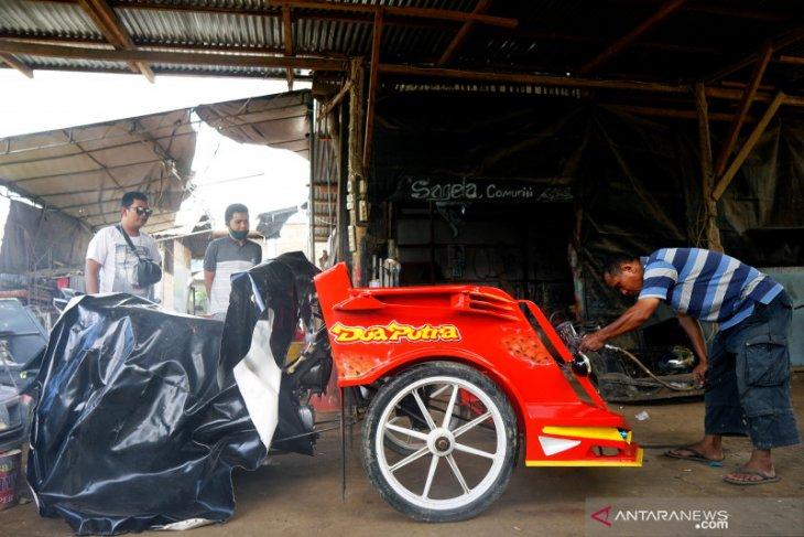 Usaha reparasi bentor di Gorontalo kembali ramai