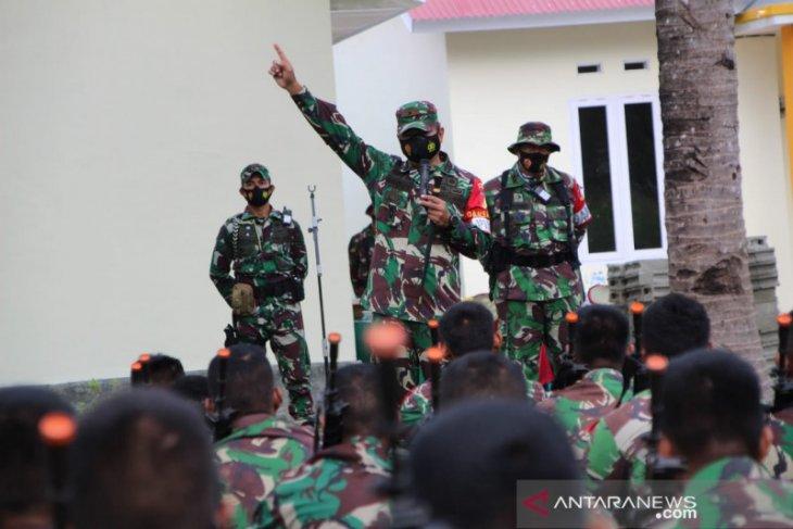 Batalyon 713 latihan uji tempur di Dumati Gorontalo