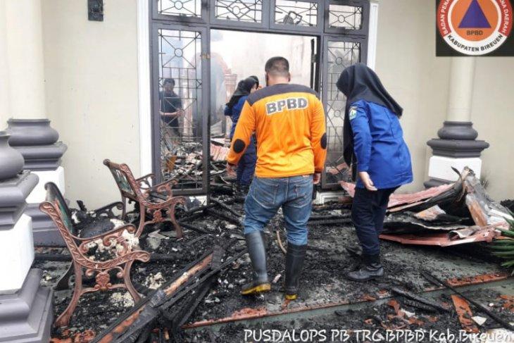 Rumah permanen di Bireuen terbakar akibat korsleting listrik