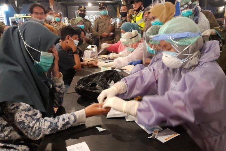 Tes cepat 214 pengunjung warkop Jalan Reformasi, 13 reaktif COVID-19